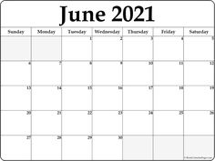 June 2021 calendar | free printable calendar templates Blank Calendar Pages, Daily Calendar Template, Free Printable Calendar Templates, At A Glance Calendar, Calendar Design, Printables, September Calendar, Calendar May, Calendar Ideas