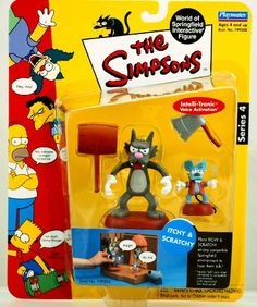 Simpsons Series 4 Itchy and Scratchy Action Figure Set The Simpsons