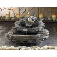 Spinning Orb Tabletop Fountain