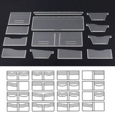 Clear Acrylic Wallet Pattern Stencil Template Set Leather Craft DIY Tool for sale online Diy Wallet Pattern, Coin Purse Pattern, Leather Wallet Pattern, Sewing Leather, Leather Gifts, Leather Bags Handmade, Diy Leather Craft Tools, Diy Tools, Handbag Patterns