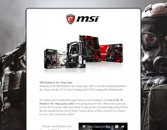 Check out this Rainbow Six: Siege Giveaway by MSI! Answer all questions correctly and win the Rainbow Six: Siege game!