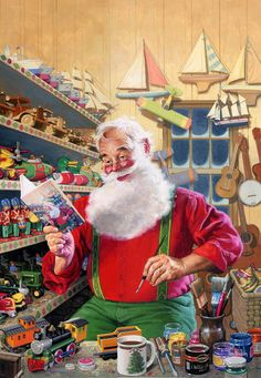 Santa in the shop