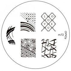 Konad Stamping Nail Art Image Plate M72