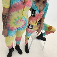 Get matching jumpsuits for yew and yer bff <3 http://www.dollskill.com/current-mood-acid-crush-tie-dye-jumpsuit.html