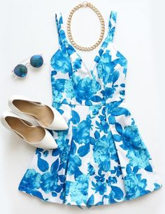 Printed Sleeveless Sexy Fashion Blue Jumpsuit