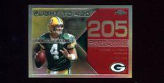2008 Topps Chrome Football Brett Favre Red Refractor #d 05/10 Flight to 420 MINT