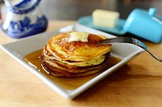 Edna Mae's Sour Cream Pancakes | The Pioneer Woman Cooks | Ree Drummond~T~ I have been making these since first got the book. If you haven't tried them you should. They are great and I like to add some lemon zest and blueberries or strawberries sometimes. I substitute Greek yogurt to cut the fat so I can use lots of butter. YUM