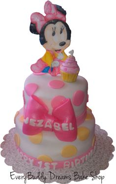 Sophias Baby Minnie Mouse 1st Birthday Cake Olivias 1st Bday