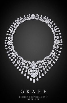 Diamond Scroll Motif Necklace