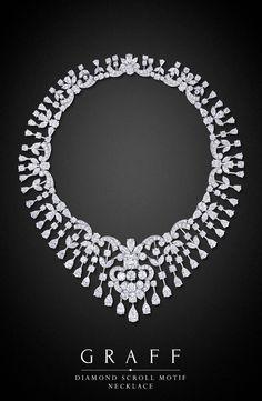 Diamond Scroll Motif Necklace