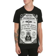 Bring Me The Horizon Spirit Board T-Shirt | Hot Topic ($21) ❤ liked on Polyvore featuring tops and t-shirts