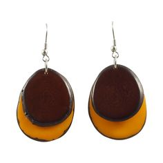 Duo Dangle Tagua Earrings