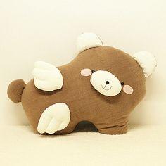 阿卡手工 猪猪 动物 手抱枕 毛绒布艺 天使猪猪抱枕DIY材料包