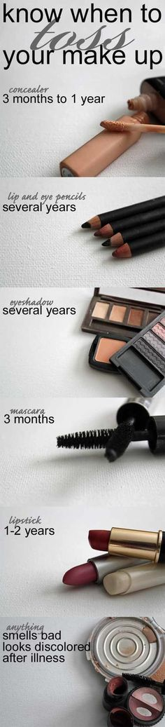 Know when to toss your Makeup! GREAT TIPS!