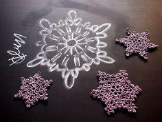 omⒶ KOPPA: fiocchi di neve all'uncinetto - istruzione illustrazione variare
