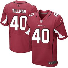 Nike Elite Pat Tillman Red Men's Jersey - Arizona Cardinals #40 NFL Home