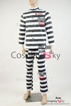 Gotham 2 Arkham Prison Uniform Cosplay Costume_7