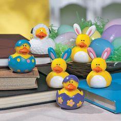 Easter Rubber Duckies - TerrysVillage.com