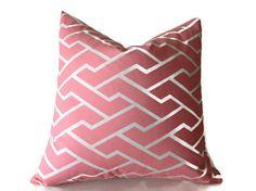 Pillows,Caitlin Wilson Pillow, Throw Pillows, Pink Pillows, High End  Pink  Pillows, Geometric Pillows,Designer Fabric Pillow Covers