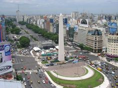 """Buenos Aires city.. there's the famous """"obelisco"""""""