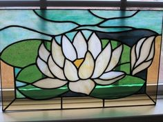 Waterlily In Stained Glass - Delphi Artist Gallery
