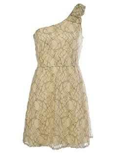 Cream lace One Strap dress. Perfect for dress rehersal.