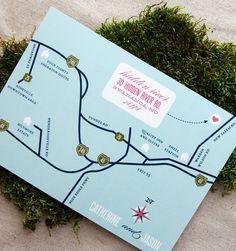 Wedding Map Design by Cheerupcherup on Etsy, $50.00