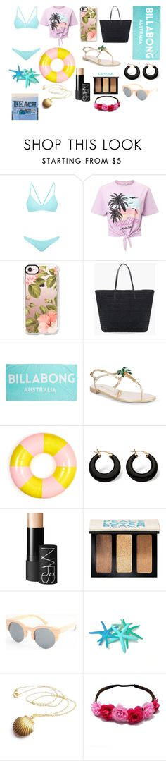 """""""Get ready this summer"""" by one-directionforever ❤ liked on Polyvore featuring Bower, Miss Selfridge, Casetify, Chico's, Billabong, Giuseppe Zanotti, ban.do, Palm Beach Jewelry, NARS Cosmetics and Bobbi Brown Cosmetics"""