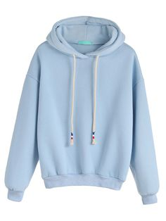 To find out about the Pale Blue Drop Shoulder Drawstring Hooded Sweatshirt at SHEIN, part of our latest Sweatshirts ready to shop online today! Nike Outfits, Cool Outfits, Teen Outfits, Bleu Pale, Hooded Sweatshirts, Hoodies, Blue Hoodie, Kawaii Clothes, Hooded Sweater