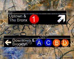 NEW YORK subway sign art