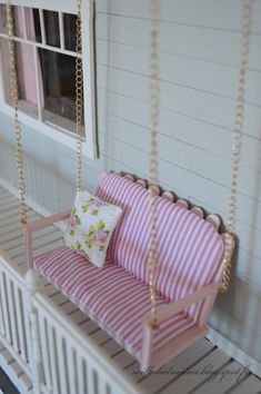 Hydrangea and porch swing tutorial. Hydrangea and porch swing tutorial. Hydrangea and porch swing tutorial. Hydrangea and porch swing tutorial. Barbie House Furniture, Doll Furniture, Furniture Ideas, Diy Cardboard Furniture, Modern Dollhouse Furniture, Garden Furniture, Outdoor Furniture, Barbie Dolls Diy, Barbie Doll House