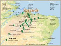 Whisky Regions of Scotland · Chart 19: Region Speyside (Malt Distilleries (working)) www.alba-collecti...