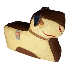 Art Deco Dog Footstool Hassock by Relaxon Wooden Wheel, Sewing Stuffed Animals, Ottoman Footstool, Backrest Pillow, Moleskine, Your Design, Art Deco, Dogs, Leather