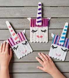 40 Creative Popsicle Stick Crafts For Kids Popsicle stic. - 40 Creative Popsicle Stick Crafts For Kids Popsicle sticks are one of those - Popsicle Stick Art, Popsicle Stick Crafts For Kids, Craft Stick Crafts, Preschool Crafts, Craft Sticks, Paper Crafts, Easy Crafts With Paper, Wood Crafts, Quick Crafts