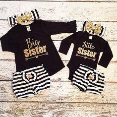 Big Sister Little Sister set shirt and by AdornedBabyBoutique