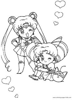Sailor Moon color page cartoon characters coloring pages color