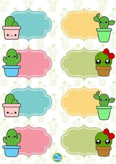 Cactus Stickers, Cute Stickers, Journal Stickers, Planner Stickers, Cute Fall Wallpaper, Classroom Labels, School Labels, Bullet Journal School, Maker
