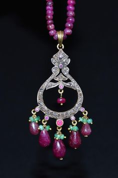 ESTATE vintage art deco victorian 14k gold and silver ruby