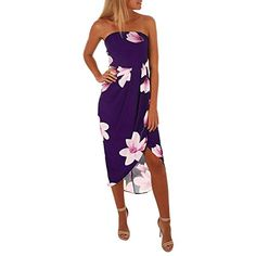Snowfoller Fashion Women Floral Printed Long Dress Casual Ladies Sleeveless Off The Shoulder Summer Dress Summer Maxi Dress Boho Summer Dresses, Beach Dresses, Sexy Dresses, Casual Dresses, Dress Summer, Dress Beach, Bow Dresses, Summer Sundresses, Ladies Dresses