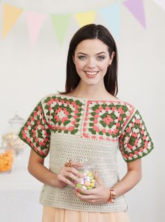 Mary Jane Tee | crochet today  Without sleeves?