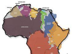 L'Afrique grandeur nature: la carte qui bouscule les idées reçues - Rue89 #Afrique #Africa #Map #Carte #Infographie #Data #Geo