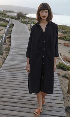 ec348c8a58a Black shirt dress - Plümo Ltd (via Gau Paris)