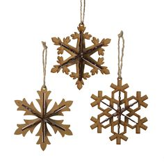 """The Jolly Christmas Shop - 5.5"""" Wooden Snowflake Ornament, $5.99 (http://www.thejollychristmasshop.com/5-5-wooden-snowflake-ornament/?page_context=category"""