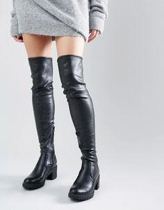 Bild 1 von Glamorous – Overknee-Stiefel mit robustem Absatz