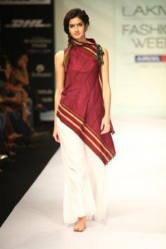 Vaishali S's Marathi chic :) : Saree Dress