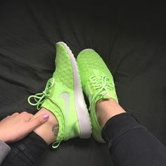 Bright as you like @emmarossiter! These neon Nike Juvenate kicks are beauts.