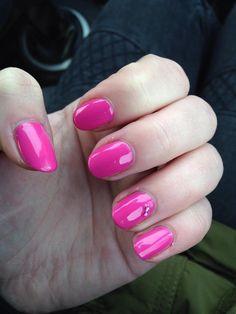 cnd shellac hot pop pink!!!