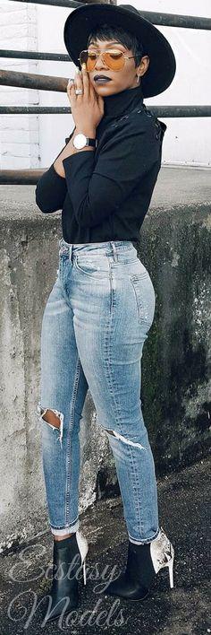High Waisted // Fashion Look by KeKe Cameron