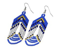 Native American Beaded Earrings inspired. by EudoraStyle on Etsy, $30.00