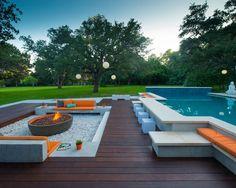 Бассейн в современном стиле - фото бассейна на даче и в загородном доме. Дизайн-проекты бессейнов, домов с бассейнами.